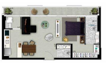 Planta apto 23 - 56 m²