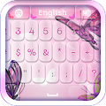 Pink Butterflies Keyboard APK for Lenovo
