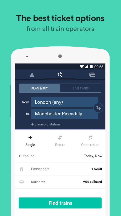 Trainline – times & tickets Screenshot 0