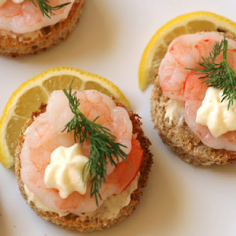 Shrimp Canapes with Dill