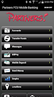 Screenshot of Partners Mobile Banking