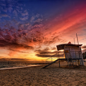 Bournemouth Beach ... by Pawel Tomaszewicz - Landscapes Waterscapes ( clouds, hdr.sunset, sand, colors, sea, beach, colours, dri, poole, england, sky, chmury, dorset )