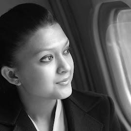 by Rajesh Dhungana - Black & White Portraits & People (  )