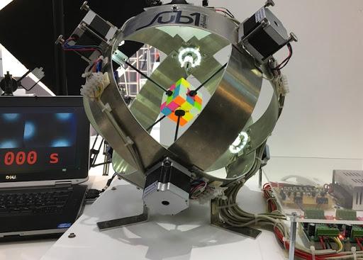 Robot solves Rubik's Cubes in 637 milliseconds