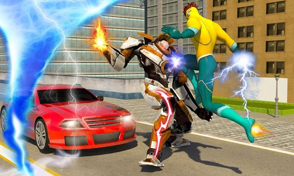 Lightning Flash Hero Speed Robot Transformation APK screenshot thumbnail 1