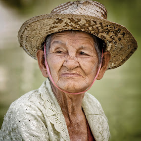 Old Woman by Charliemagne Unggay - People Portraits of Women
