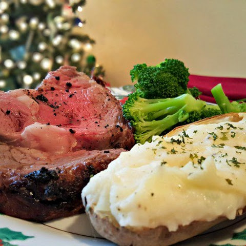 Prime Rib Roast with Twice Baked Potatoes