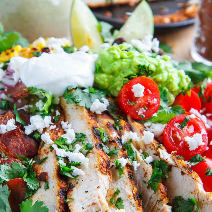 Texmex Grilled Chicken Salad in Creamy Avocado Salsa Verde Dressing ...