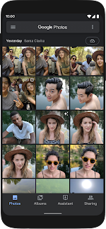 Collage of Android 10 features on multiple different devices
