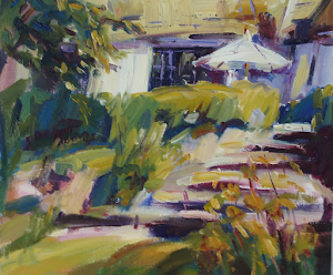 Our Backyard Oil 10x10""