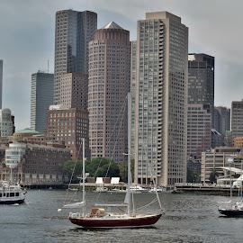 Boston, Ma. by Monroe Phillips - City,  Street & Park  Skylines