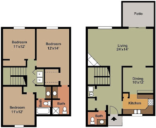 Castleton Manor Floor Plan 3 Bed 2.5 Bath 1570 SqFt