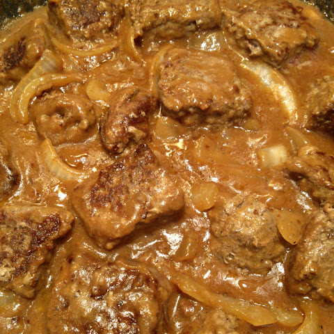 Smothered Salisbury Steak Tips
