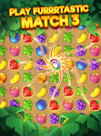 Tropicats: Free Match 3 on a Cats Tropical Island Screenshot