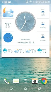 Weather 360:  Uhr & Widget Screenshot