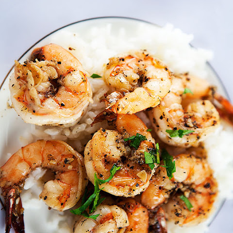 Peppery Garlic Prawns