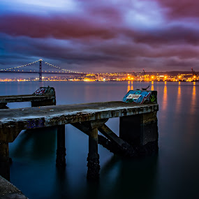The colors of Lisbon by Adriano Freire - City,  Street & Park  Street Scenes ( tejo, rio, cor, lisboa, ginjal )