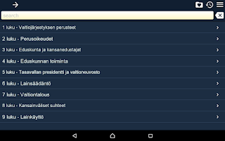 Screenshot of Constitution of Finland