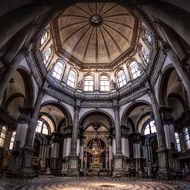 Basilica di Santa Maria della Salute by Ole Steffensen - Buildings & Architecture Places of Worship ( venezia, church, venice, dome, basilica di santa maria della salute, italy )