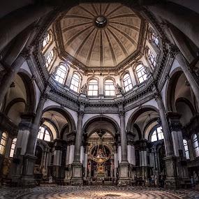 Basilica di Santa Maria della Salute by Ole Steffensen - Buildings & Architecture Places of Worship ( venezia, church, venice, dome, basilica di santa maria della salute, italy,  )