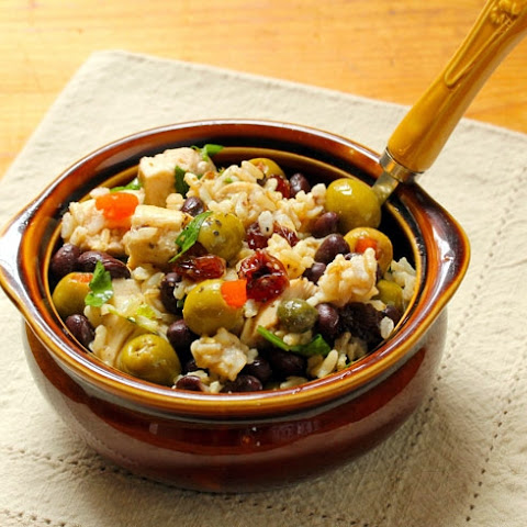 Picadillo Black Bean And Rice Salad With Chicken And Olives