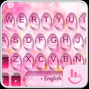 Pink Water Sakura Keyboard Theme For PC