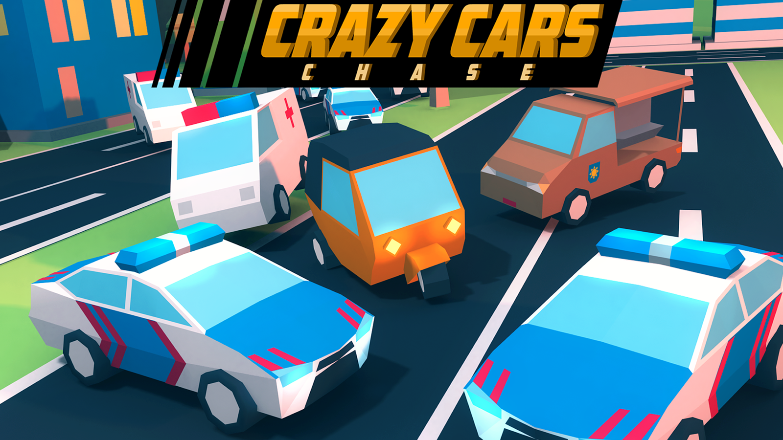 Crazy Cars Chase Screenshot 0