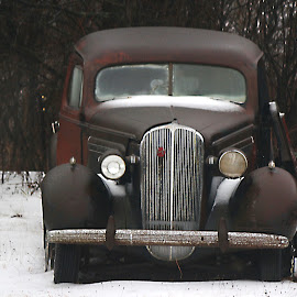 Icy Buick Solidfied  by Michelle Bonin - Transportation Automobiles ( car, automotive, classic car, vintage, still life, transportation, antique )