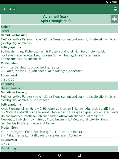 Homöopathie Reiseapotheke - screenshot