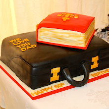 Briefcase and Bible Cake