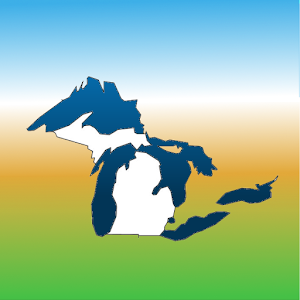 Aqua Map Michigan-Great Lakes