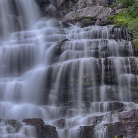 Waterfall by Knut Saglien - Landscapes Waterscapes ( silky, waterfall, norway, long exposure, river )