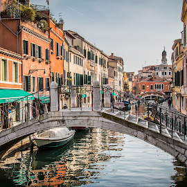 by Mario Horvat - City,  Street & Park  Historic Districts ( venezia, water, brodge, houses, italia, venice, boat, italy, canal )
