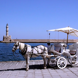 Kalispera, Hello Tourists! by Olimp Boros - Transportation Other ( travel photos, greece, chania, crete, olimp boros )