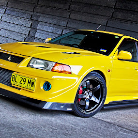 Evo 5 by Bronwyn Holmes - Transportation Automobiles ( mitsubishi lancer evolution 5 )