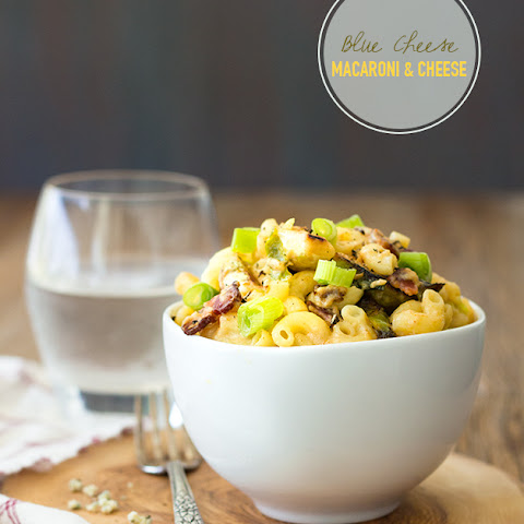 Blue Cheese, Bacon, & Brussels Sprouts Macaroni & Cheese {GF}