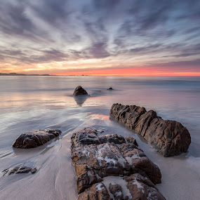 Dusk by Steve Badger - Landscapes Beaches ( queensland, sunset, australia, kirra, beach,  )