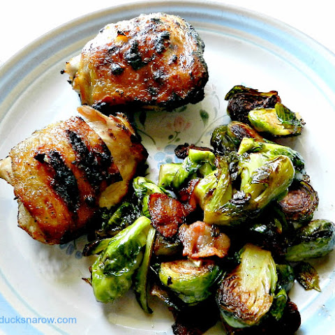 Pan Roasted Brussel Sprouts and Bacon