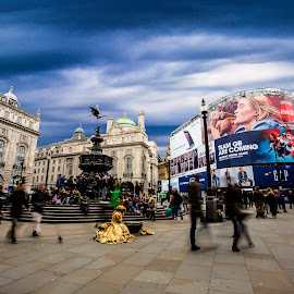 Piccadilly Circus by Aamir DreamPix - City,  Street & Park  Street Scenes ( roundabout, screen, uk, building, architectural detail, show, architecture, road, roadside, architect, piccadilly circus, london, buildings, artist, artistic objects )
