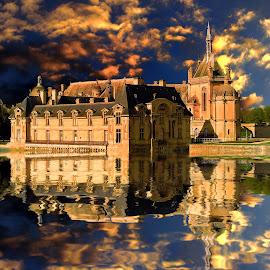 Chantilly casttle by Gérard CHATENET - Digital Art Places