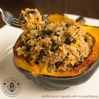 Rice Stuffed Acorn Squash Vegetarian Recipes