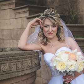 She's Ready by Michael Keel - Wedding Bride ( white wedding, russian wedding, wedding, tags *      wedding     russian wedding     palace of fine arts     san francisco     california wedding     bride     white wedding     woman portraits     bride portrait, bride, bride portrait, san francisco, palace of fine arts )