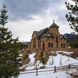 Chapel on the Rock by Gannon McGhee - Buildings & Architecture Places of Worship ( winter, snow, colorado, on, rock, the, chapel )