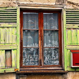 Window by Dobrin Anca - Buildings & Architecture Decaying & Abandoned ( window, street, sea, brittany, yellow )