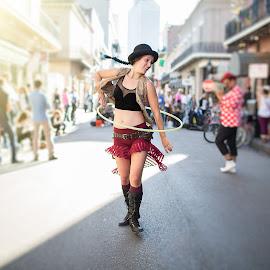 The Hula Hoop Girl by Uday Sripathi - People Musicians & Entertainers ( girl, street, hulahoop, performer, artist, dance )