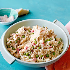 Creamed Rice With English Peas and Country Ham