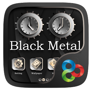 Black Metal GO Launcher Theme v1.0