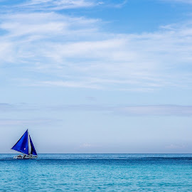 Blue by Stuart Jamieson - Landscapes Waterscapes ( boracay philippines )
