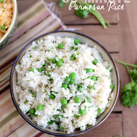 30 Minute Parmesan Rice- 2 ways!