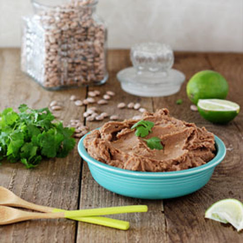 Easy Vegetarian Crock Pot Refried Beans (without Lard!)